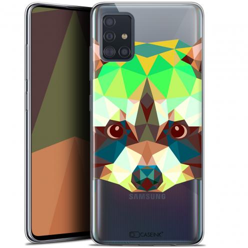 "Coque Gel Samsung Galaxy A51 (A515) (6.5"") Extra Fine Polygon Animals - Raton Laveur"
