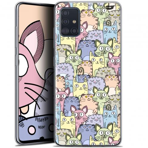"Coque Gel Samsung Galaxy A51 (A515) (6.5"") Extra Fine Motif - Foule de Chats"