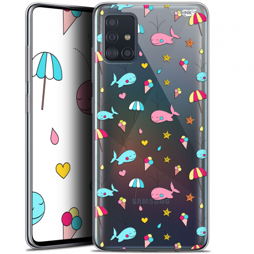 "Coque Gel Samsung Galaxy A51 (A515) (6.5"") Extra Fine Motif - Baleine à la Plage"