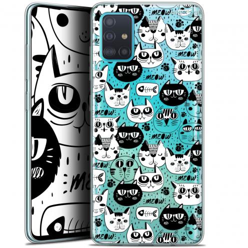 "Coque Gel Samsung Galaxy A51 (A515) (6.5"") Extra Fine Motif - Chat Noir Chat Blanc"