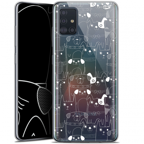"""Coque Gel Samsung Galaxy A51 (A515) (6.5"""") Extra Fine Motif - Chien Blanc"""