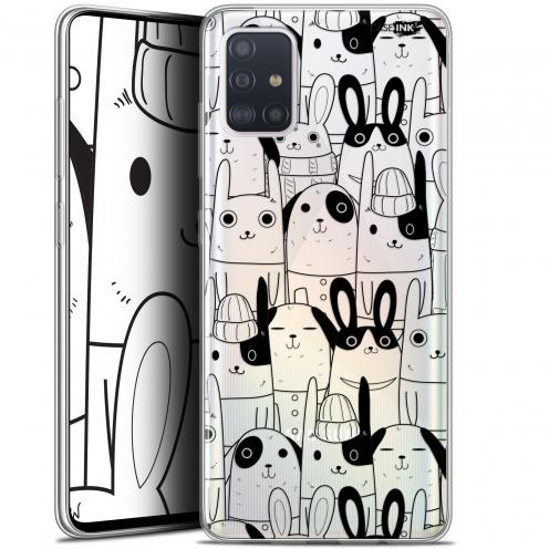 "Coque Gel Samsung Galaxy A51 (A515) (6.5"") Extra Fine Motif - Lapin Noir"