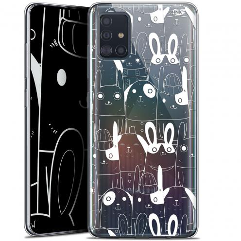 """Coque Gel Samsung Galaxy A51 (A515) (6.5"""") Extra Fine Motif - Lapin Blanc"""