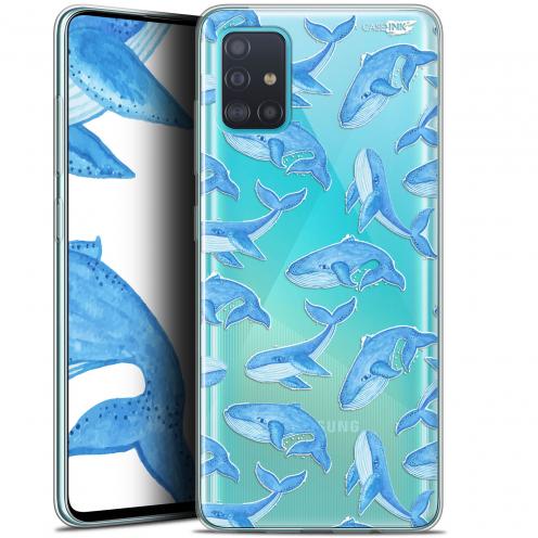 "Coque Gel Samsung Galaxy A51 (A515) (6.5"") Extra Fine Motif - Baleines"