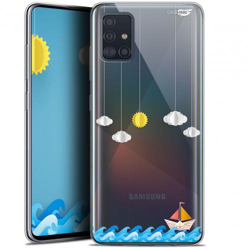 "Coque Gel Samsung Galaxy A51 (A515) (6.5"") Extra Fine Motif - Petit Bateau en Mer"