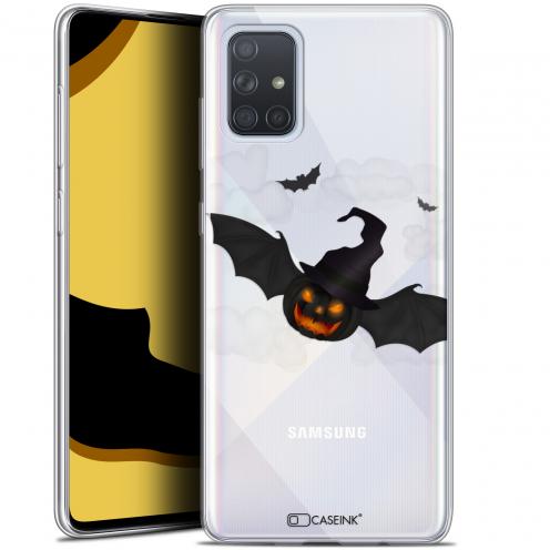 "Coque Gel Samsung Galaxy A71 (A715) (6.7"") Extra Fine Halloween - Chauve Citrouille"
