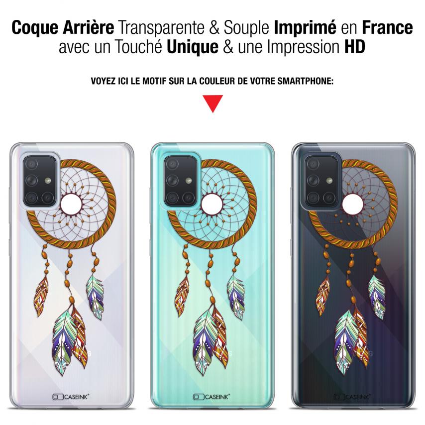 "Coque Gel Samsung Galaxy A71 (A715) (6.7"") Extra Fine Dreamy - Attrape Rêves Shine"