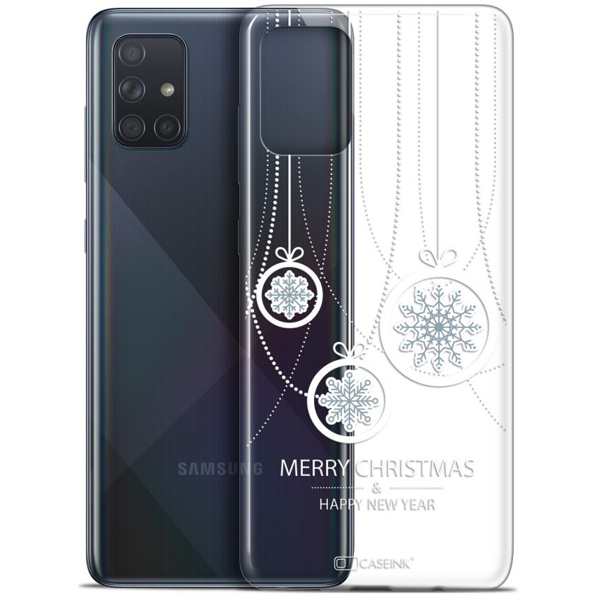 "Coque Gel Samsung Galaxy A71 (A715) (6.7"") Extra Fine Noël 2017 - Christmas Balls"