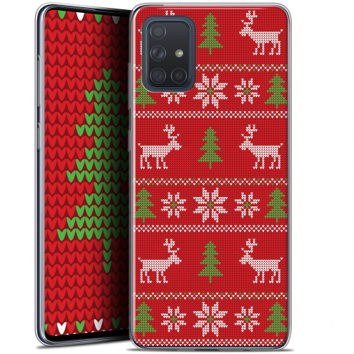 "Coque Gel Samsung Galaxy A71 (A715) (6.7"") Extra Fine Noël 2017 - Couture Rouge"