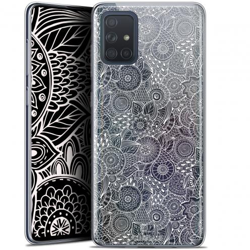 "Coque Gel Samsung Galaxy A71 (A715) (6.7"") Extra Fine Dentelle Florale - Blanc"