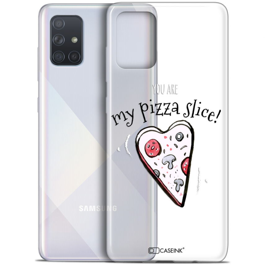 "Coque Gel Samsung Galaxy A71 (A715) (6.7"") Extra Fine Love - My Pizza Slice"