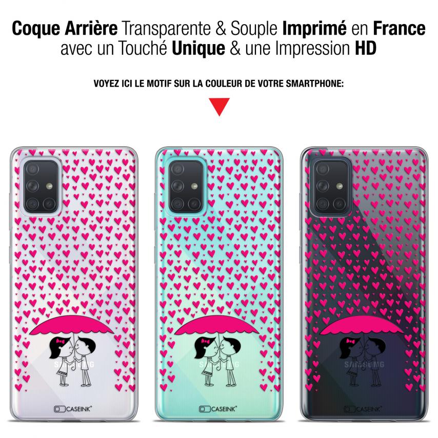 "Coque Gel Samsung Galaxy A71 (A715) (6.7"") Extra Fine Love - Pluie d'Amour"
