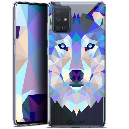 """Coque Gel Samsung Galaxy A71 (A715) (6.7"""") Extra Fine Polygon Animals - Loup"""