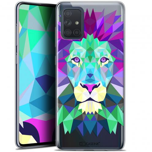 """Coque Gel Samsung Galaxy A71 (A715) (6.7"""") Extra Fine Polygon Animals - Lion"""