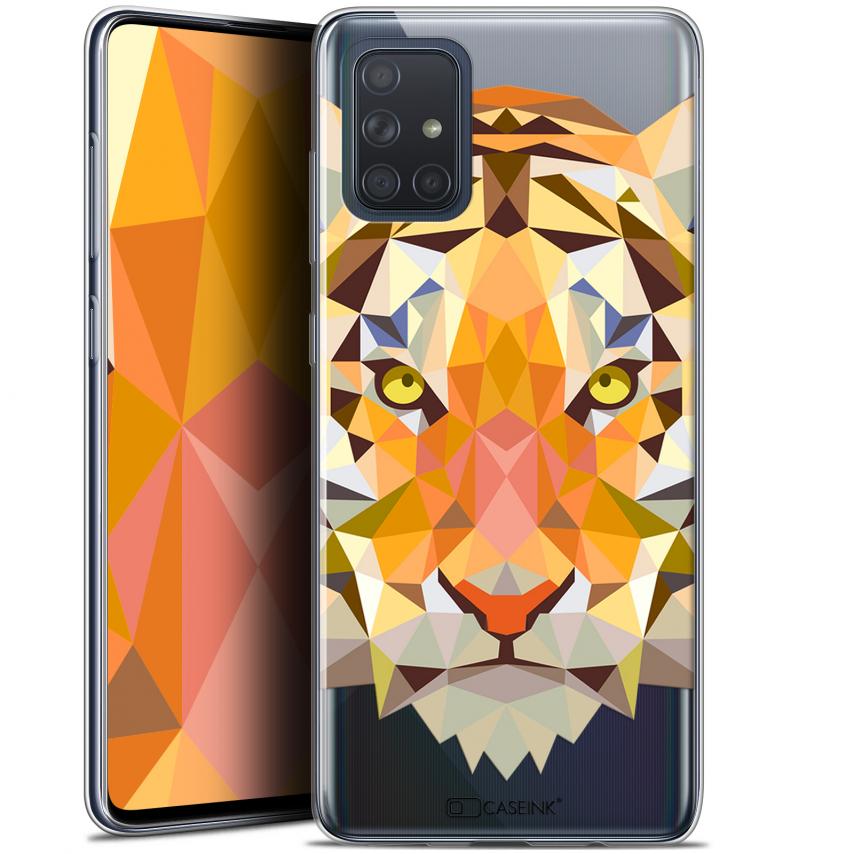 "Coque Gel Samsung Galaxy A71 (A715) (6.7"") Extra Fine Polygon Animals - Tigre"