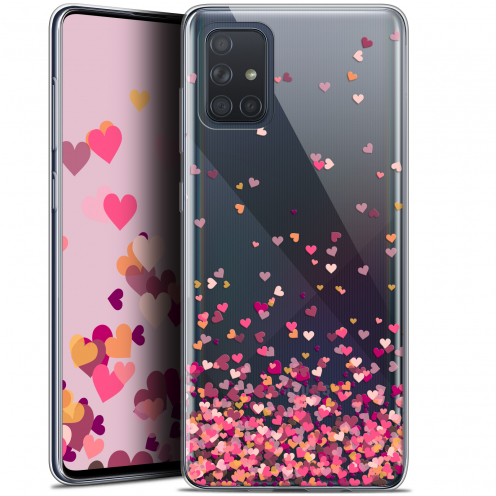 "Coque Gel Samsung Galaxy A71 (A715) (6.7"") Extra Fine Sweetie - Heart Flakes"