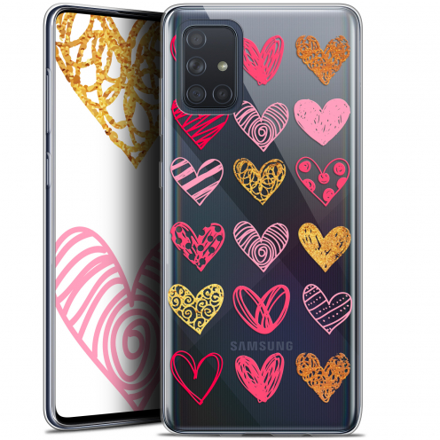 "Coque Gel Samsung Galaxy A71 (A715) (6.7"") Extra Fine Sweetie - Doodling Hearts"