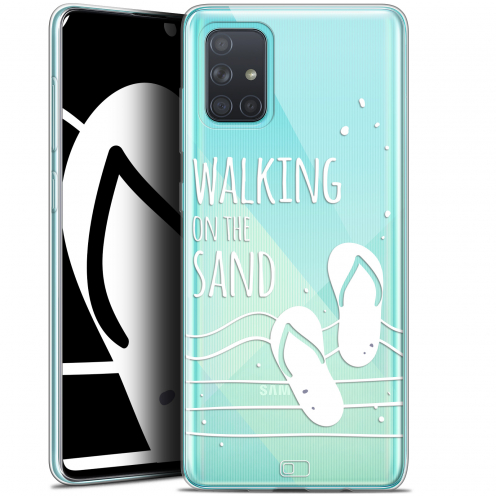 "Coque Gel Samsung Galaxy A71 (A715) (6.7"") Extra Fine Summer - Walking on the Sand"