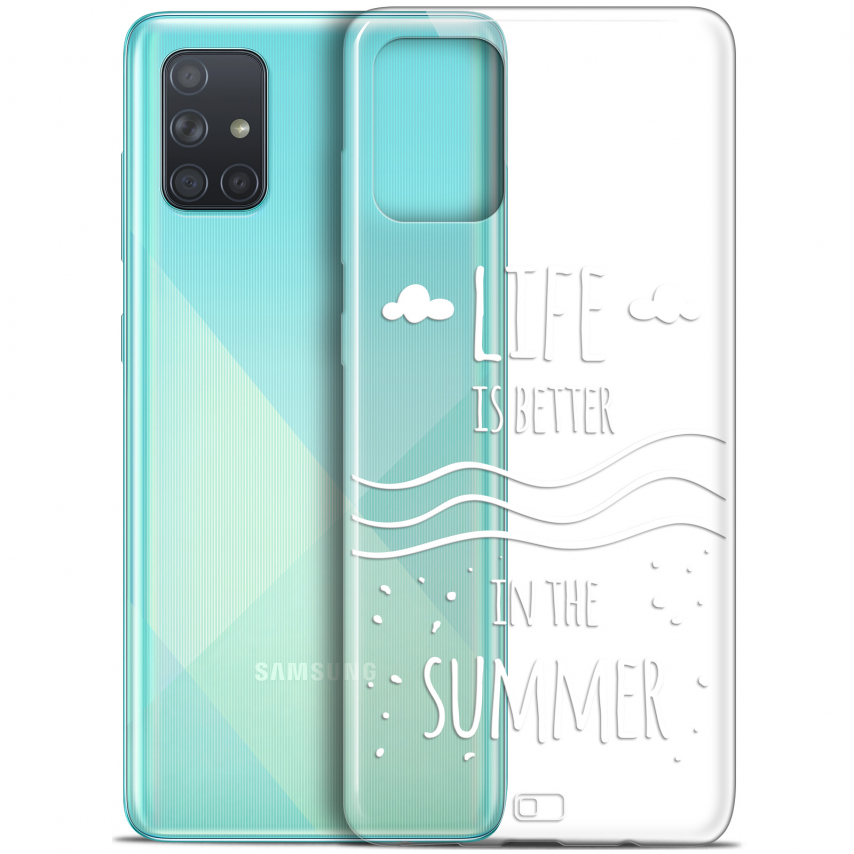 "Coque Gel Samsung Galaxy A71 (A715) (6.7"") Extra Fine Summer - Life's Better"