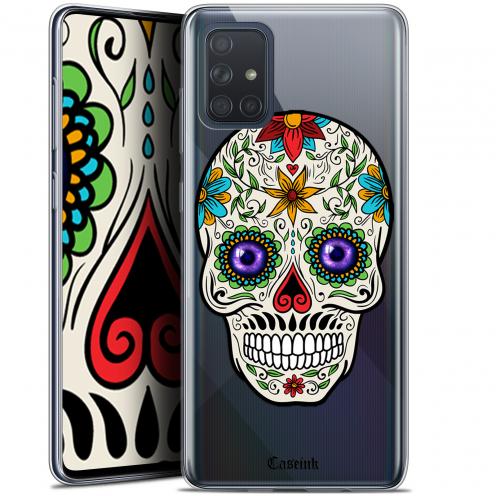 """Coque Gel Samsung Galaxy A71 (A715) (6.7"""") Extra Fine Skull - Maria's Flower"""