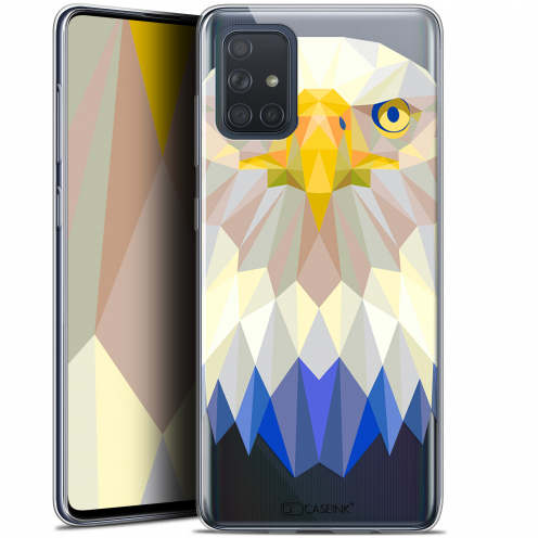 "Coque Gel Samsung Galaxy A71 (A715) (6.7"") Extra Fine Polygon Animals - Aigle"