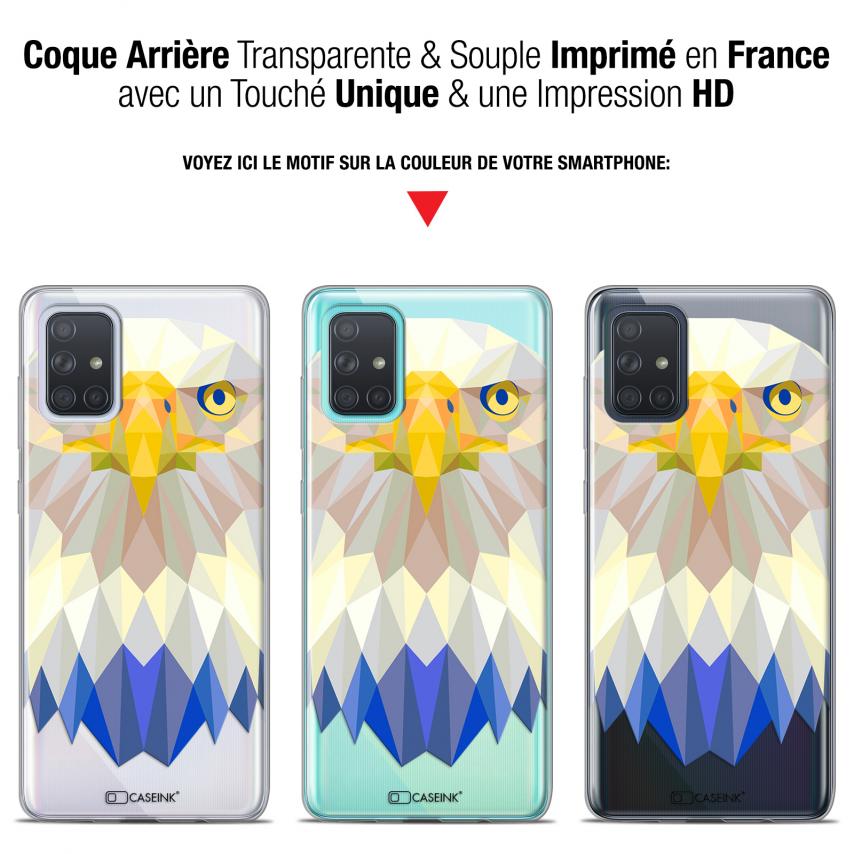 """Coque Gel Samsung Galaxy A71 (A715) (6.7"""") Extra Fine Polygon Animals - Aigle"""
