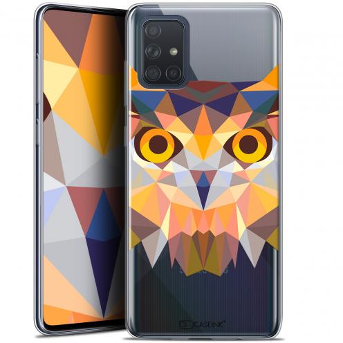 """Coque Gel Samsung Galaxy A71 (A715) (6.7"""") Extra Fine Polygon Animals - Hibou"""