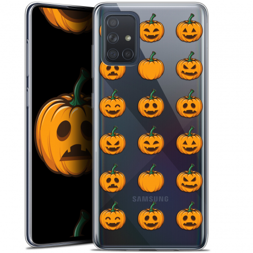 "Coque Gel Samsung Galaxy A71 (A715) (6.7"") Extra Fine Halloween - Smiley Citrouille"