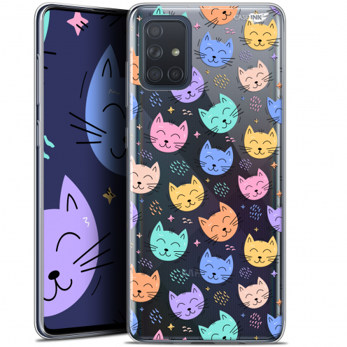 "Coque Gel Samsung Galaxy A71 (A715) (6.7"") Extra Fine Motif - Chat Dormant"