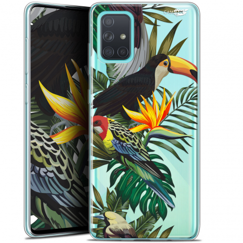 "Coque Gel Samsung Galaxy A71 (A715) (6.7"") Extra Fine Motif - Toucan Tropical"
