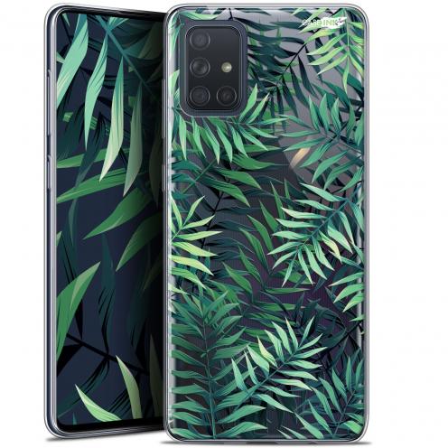 """Coque Gel Samsung Galaxy A71 (A715) (6.7"""") Extra Fine Motif - Feuilles des Tropiques"""