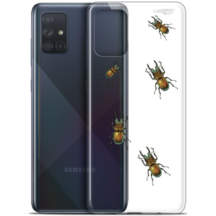 """Coque Gel Samsung Galaxy A71 (A715) (6.7"""") Extra Fine Motif - Petits Scarabés"""