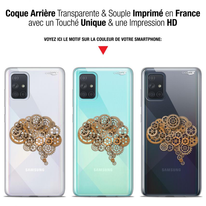 "Coque Gel Samsung Galaxy A71 (A715) (6.7"") Extra Fine Motif - Mécanismes du Cerveau"