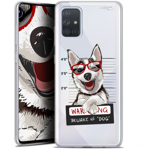 "Coque Gel Samsung Galaxy A71 (A715) (6.7"") Extra Fine Motif - Beware The Husky Dog"