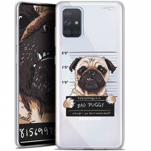 "Coque Gel Samsung Galaxy A71 (A715) (6.7"") Extra Fine Motif - Beware The Puggy Dog"