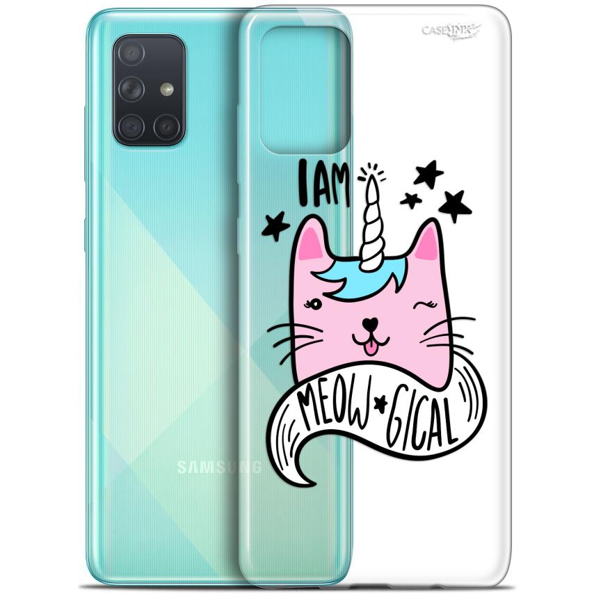 "Coque Gel Samsung Galaxy A71 (A715) (6.7"") Extra Fine Motif - I Am MEOUgical"