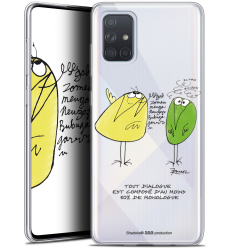 "Coque Gel Samsung Galaxy A71 (A715) (6.7"") Extra Fine Les Shadoks® - Le Dialogue"