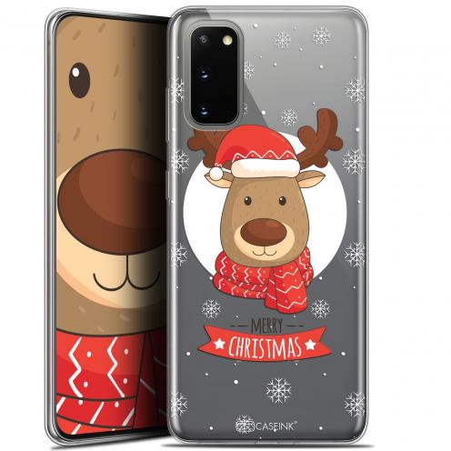 """Coque Gel Samsung Galaxy S20 (6.2"""") Extra Fine Noël 2017 - Cerf à Echarpe"""