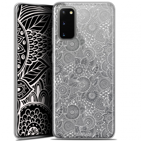 "Coque Gel Samsung Galaxy S20 (6.2"") Extra Fine Dentelle Florale - Blanc"