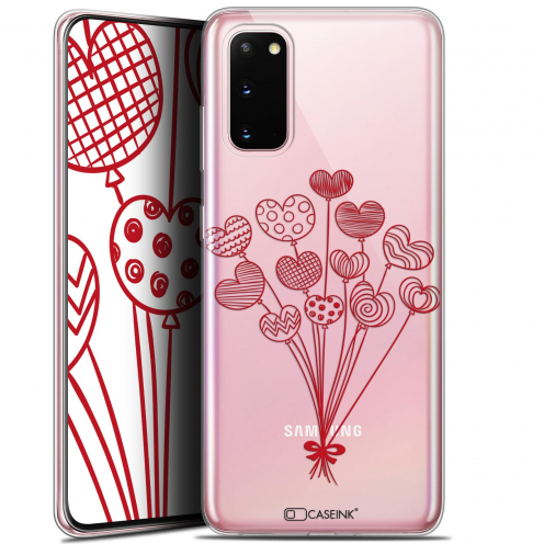 """Coque Gel Samsung Galaxy S20 (6.2"""") Extra Fine Love - Ballons d'amour"""