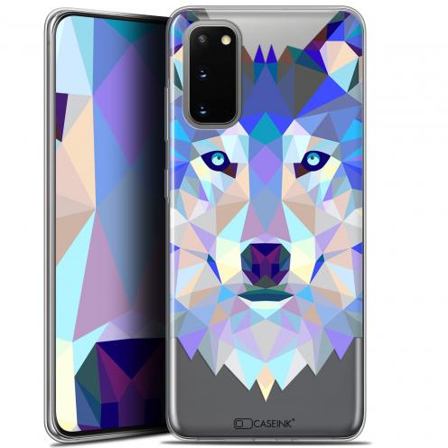 "Coque Gel Samsung Galaxy S20 (6.2"") Extra Fine Polygon Animals - Loup"