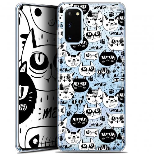 "Coque Gel Samsung Galaxy S20 (6.2"") Extra Fine Motif - Chat Noir Chat Blanc"