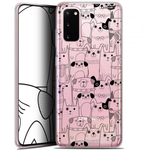 "Coque Gel Samsung Galaxy S20 (6.2"") Extra Fine Motif - Chien Noir"