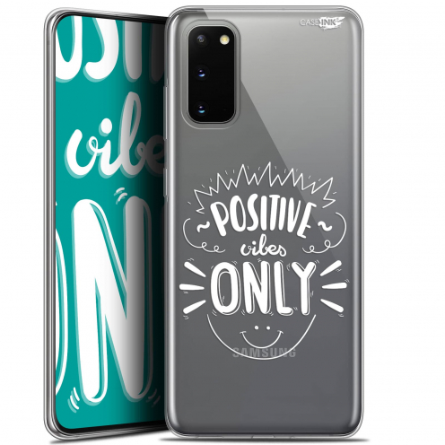 """Coque Gel Samsung Galaxy S20 (6.2"""") Extra Fine Motif - Positive Vibes Only"""
