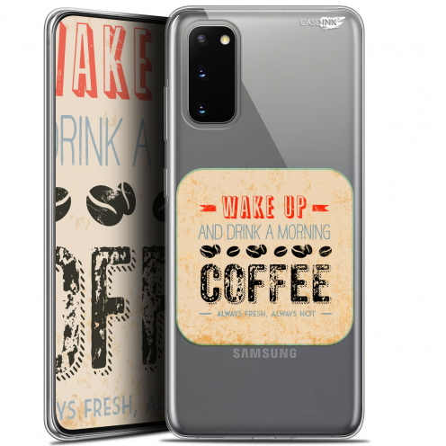 "Coque Gel Samsung Galaxy S20 (6.2"") Extra Fine Motif - Wake Up With Coffee"