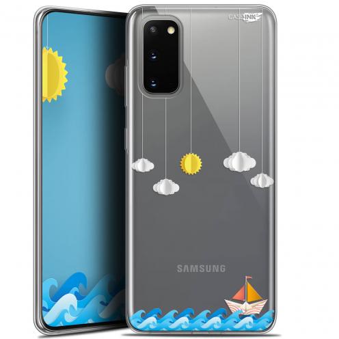"Coque Gel Samsung Galaxy S20 (6.2"") Extra Fine Motif - Petit Bateau en Mer"