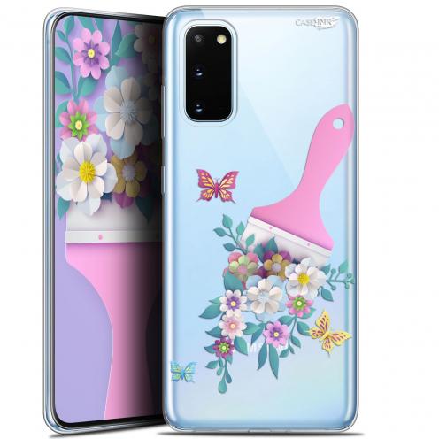"Coque Gel Samsung Galaxy S20 (6.2"") Extra Fine Motif - Pinceau à Fleurs"