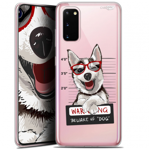 "Coque Gel Samsung Galaxy S20 (6.2"") Extra Fine Motif - Beware The Husky Dog"