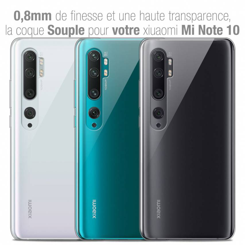 "Coque Xiaomi Mi Note 10 / Pro (6.47"") Extra Fine Souple Crystal Clear"