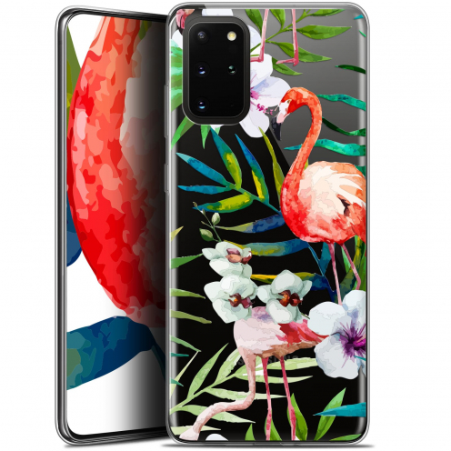 "Coque Gel Samsung S20+ (6.7"") Extra Fine Watercolor - Tropical Flamingo"